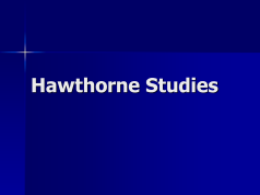 describe the hawthorne studies