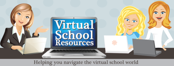 Virtual School Resources Graphic of students and teachers