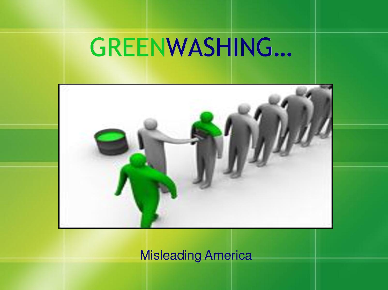 About Greenwashing