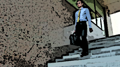 stock-footage-young-businessman-with-suitcase-walking-the-stairs-down