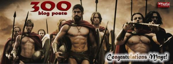 300 blog congrats